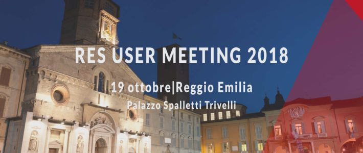 RES User Meeting 2018 (8° edizione)